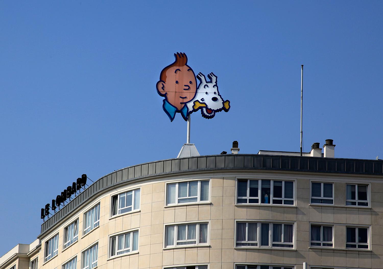Tintin au Midi, resplandissant