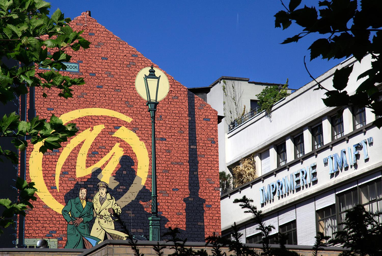 Mur peint, hommage à nos créateurs de BD