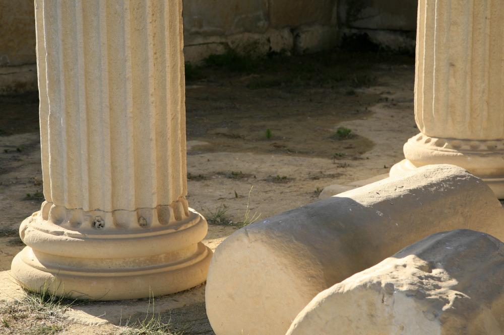 Ruines à la 'Cuma', sanctuaire gréco-romain