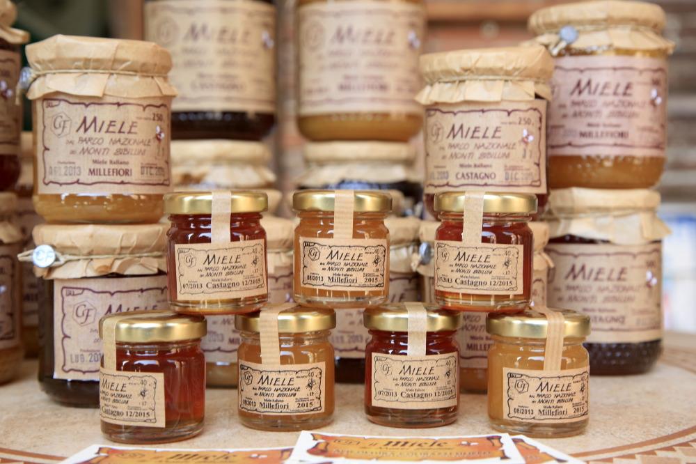Miels & Gelée de pommes roses des Monts Sibyllins