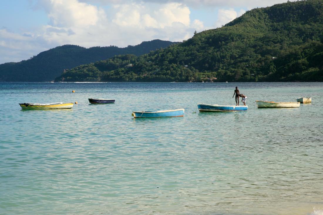 Et un dernier tour de l'île : ici Anse Royale