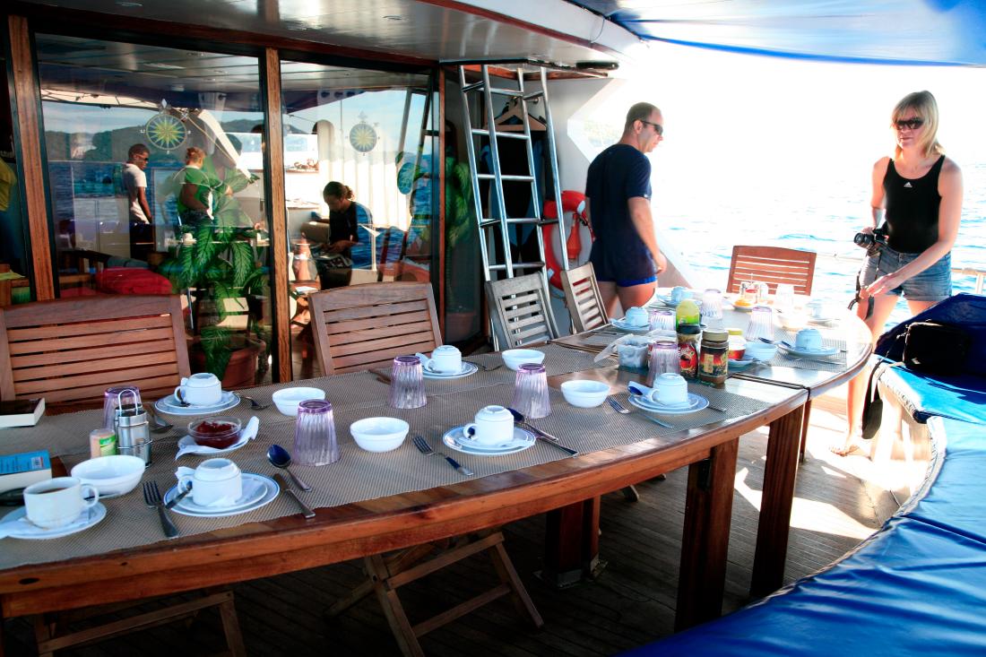 Et  toujours le Tea Time au retour de plongée ou d'excursion