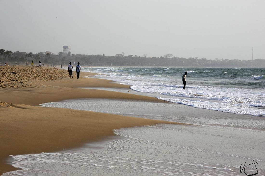 Fin de journée sur la plage de Bijilo