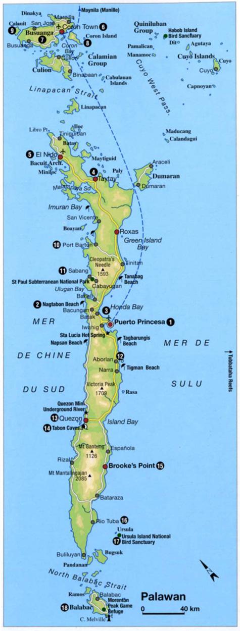 Carte du guide Gallimard, Bibliothèque du Voyageur, Philippines Ed. Mai 2014