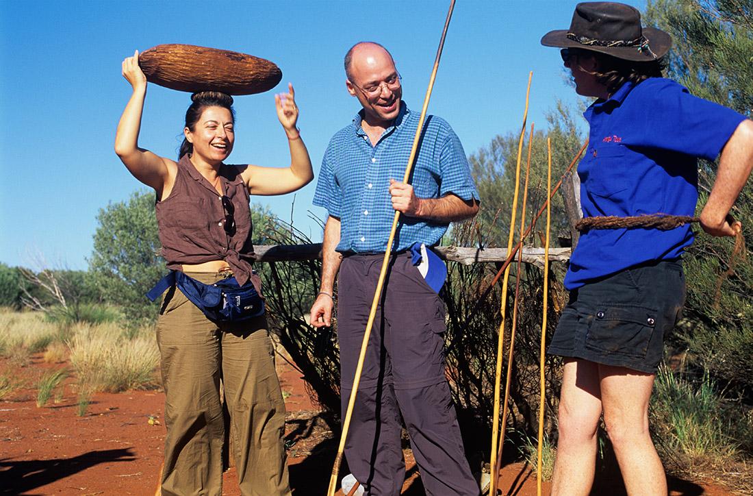 Aboriginal Culture Tour, non loin de Ayers Rock, Australie © S.Dauwe