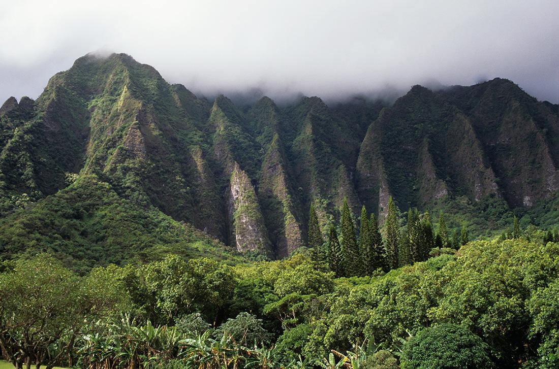 Somptueuses montagnes de Hawaii © S.Dauwe