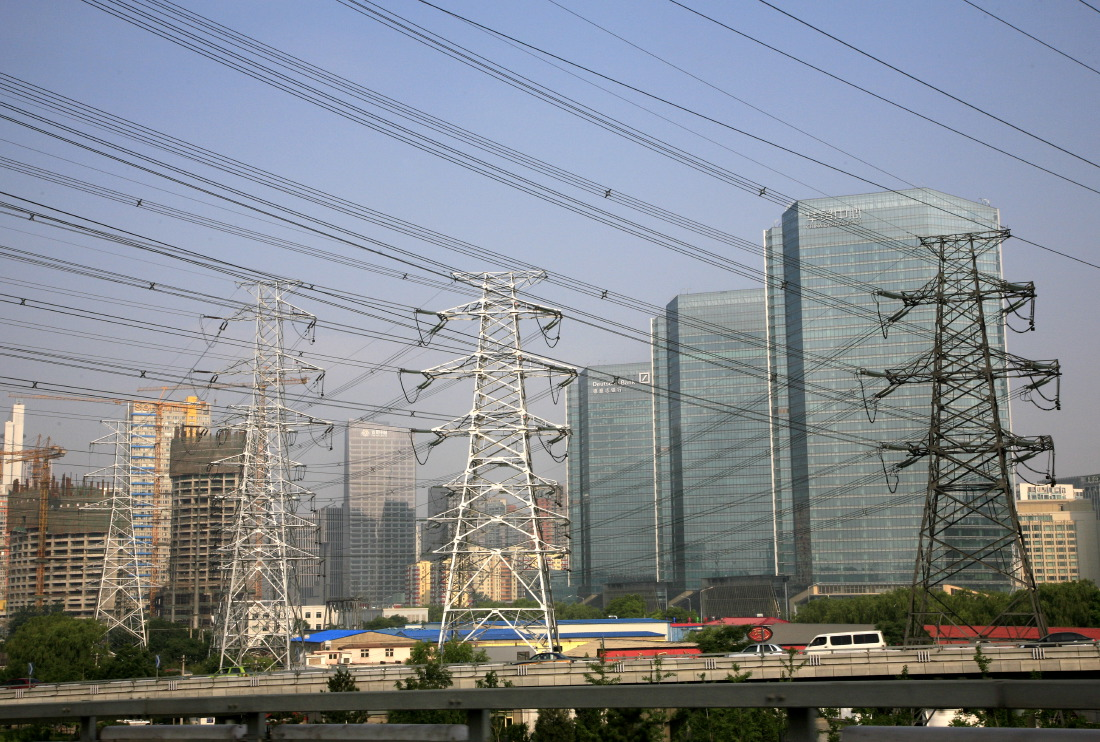 Traffic, buildings & wires, Chaoyang District, Beijing