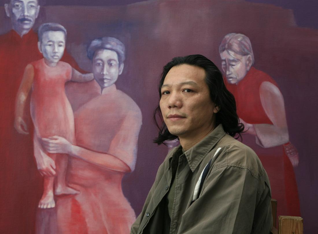 Artist : Jiang Jin in his Art Work Room (Studio) at Art Center Xiao Pu, Songzhuang Village, Tongzhou District,