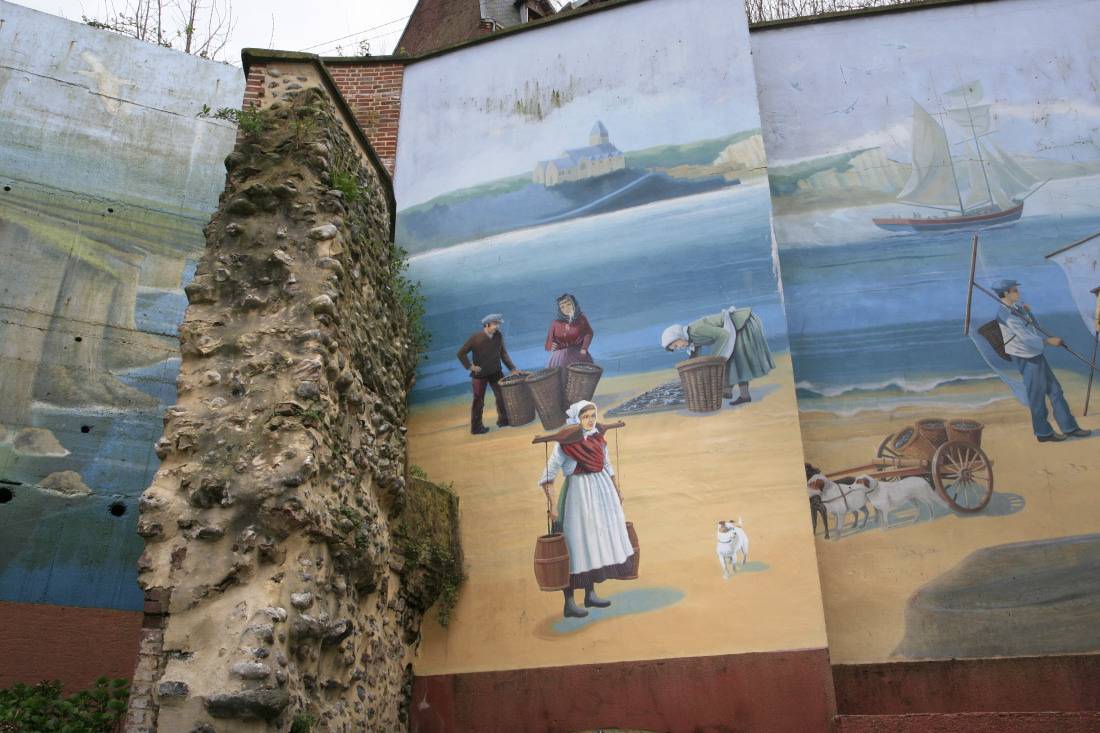 Fresque près du Musée du Vieux Tréport