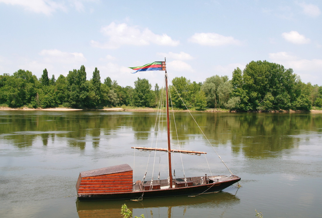 Gabare en bord de Loire