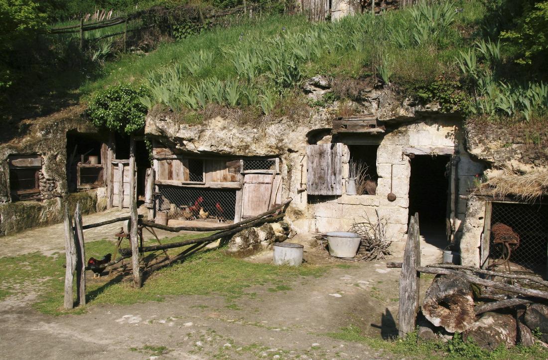 La vallée troglodyte des Goupillères à Azay-le-Rideau