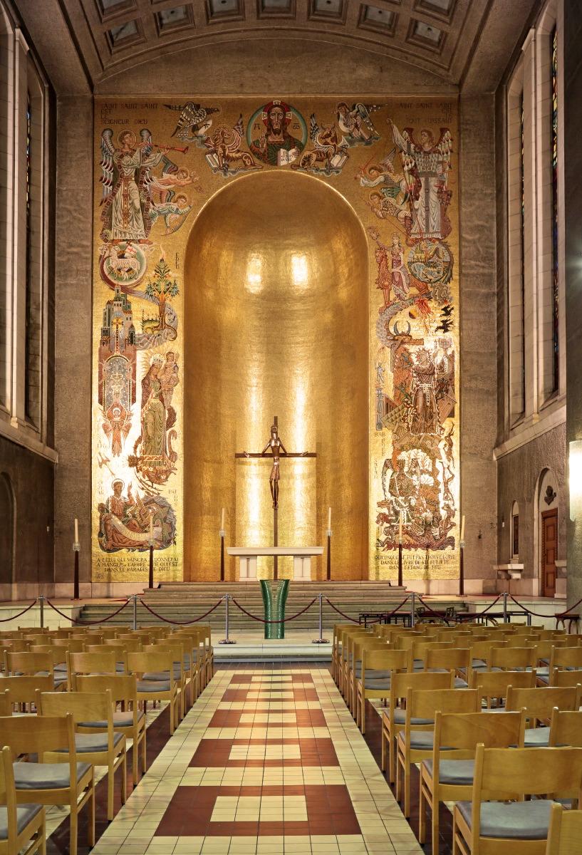 Mosaïques représentant l'Apocalypse de St-Jean, Eglise St Christophe ©JJ Serol