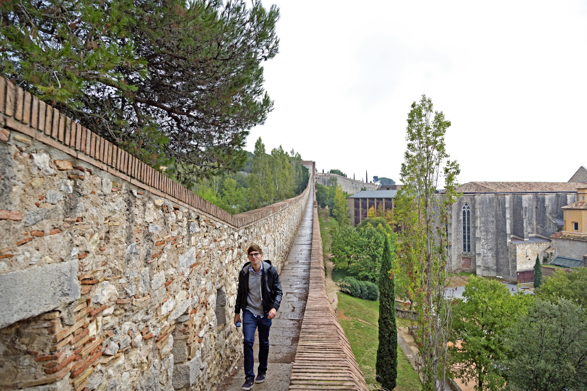 Gérone, balade le long des murailles