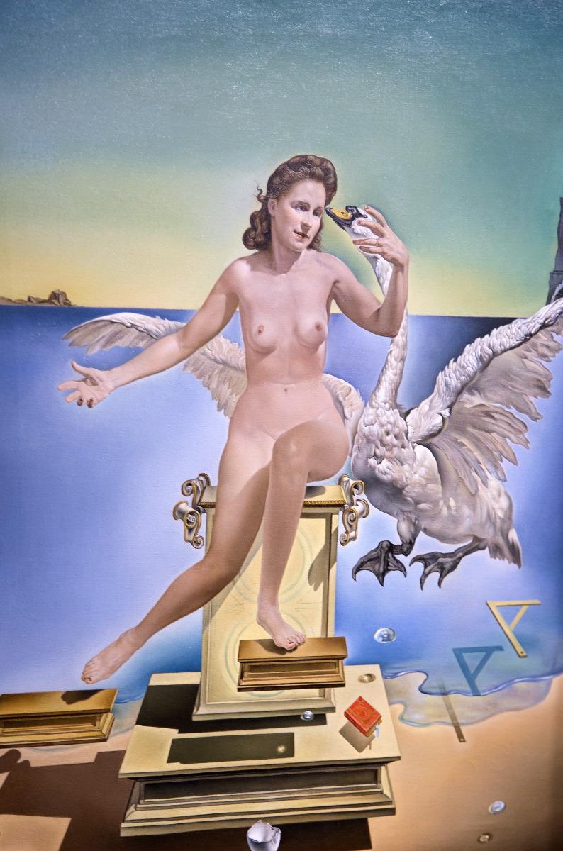 Leda Atomica - 1949 (huile sur toile 61,1 x 45,3) Fondation Gala-Salvator-Dali (Figueras) © JJ Serol