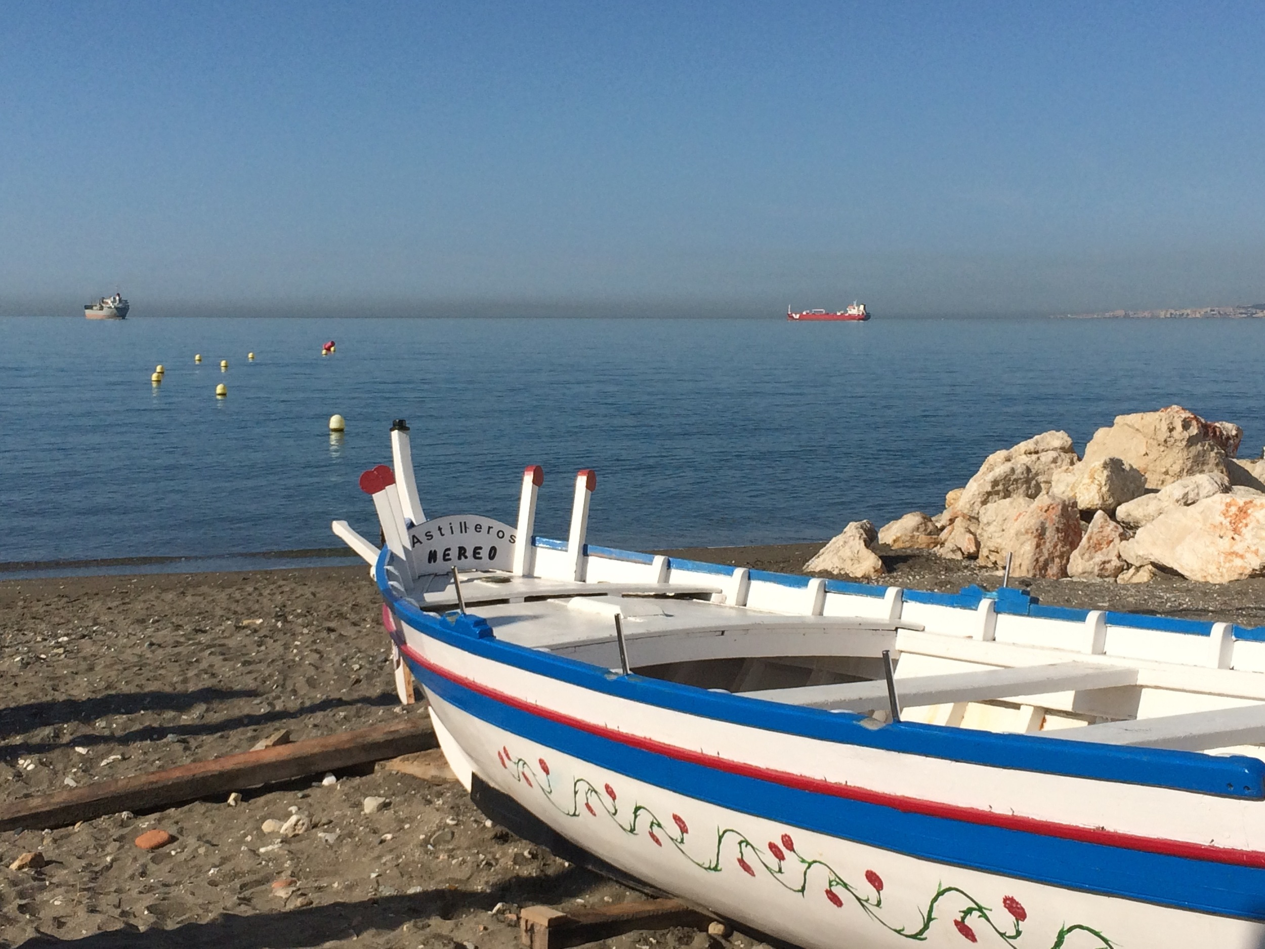 Barque traditionnelle de pêcheurs à Pedregalego