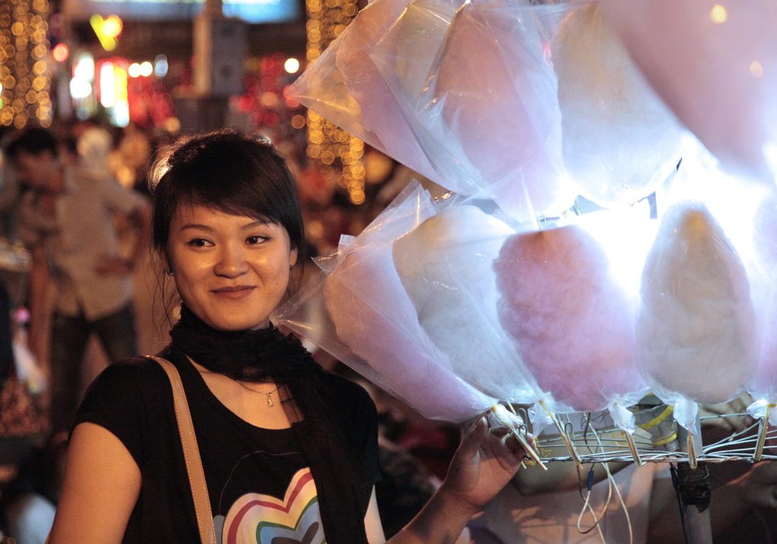 Soirées de fête populaire entre Pham Ngu Lao et Le Lai