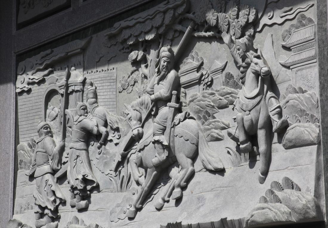Bas-relief à la pagode Nghia An Hoi Quan