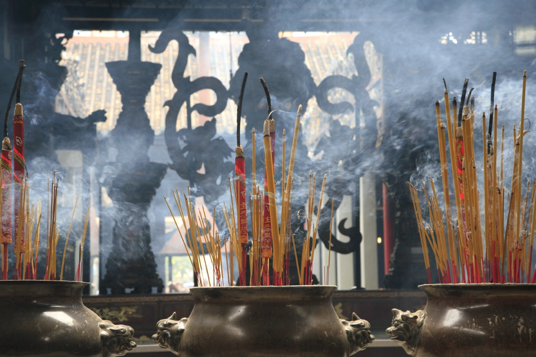 Toujours dans cette superbe pagode Tue Thanh Hoi Quan