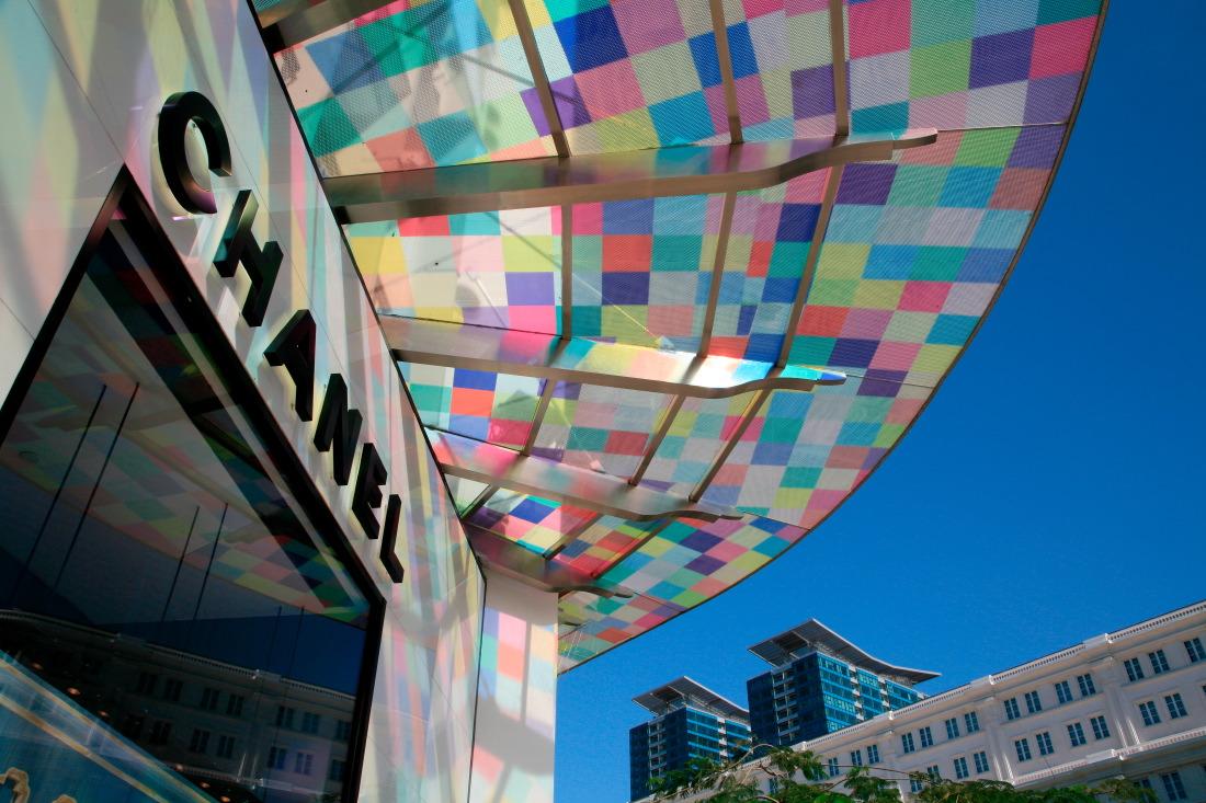 Shopping arcade au pied du Rex Hotel