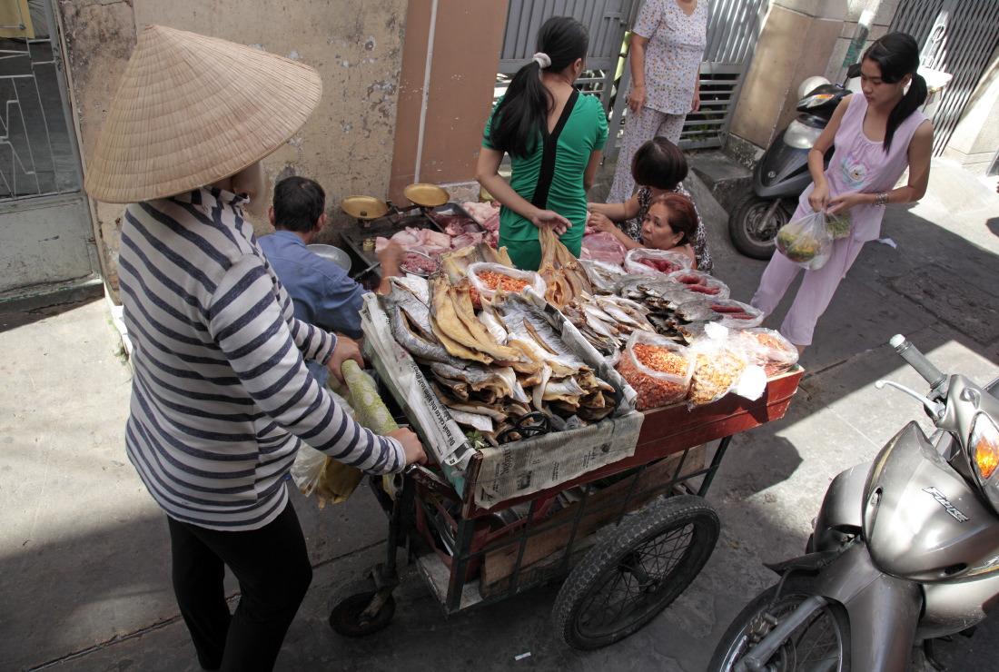 Dans les ruelles de Pham Ngu Lao Street. District 1