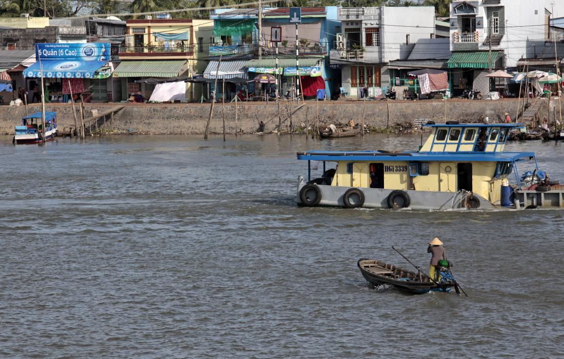 Sur un bras du Mékong entre TraVinh et CanTho