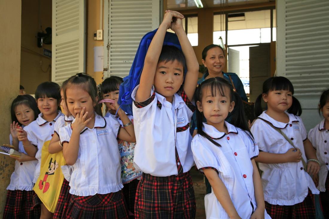 Sortie de classe à  l'école Trung Vuong, SaDec