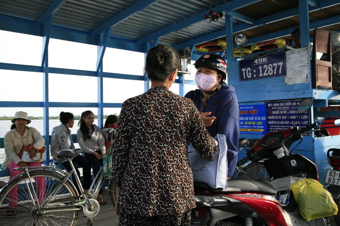 Sur le bac de Tân Phong