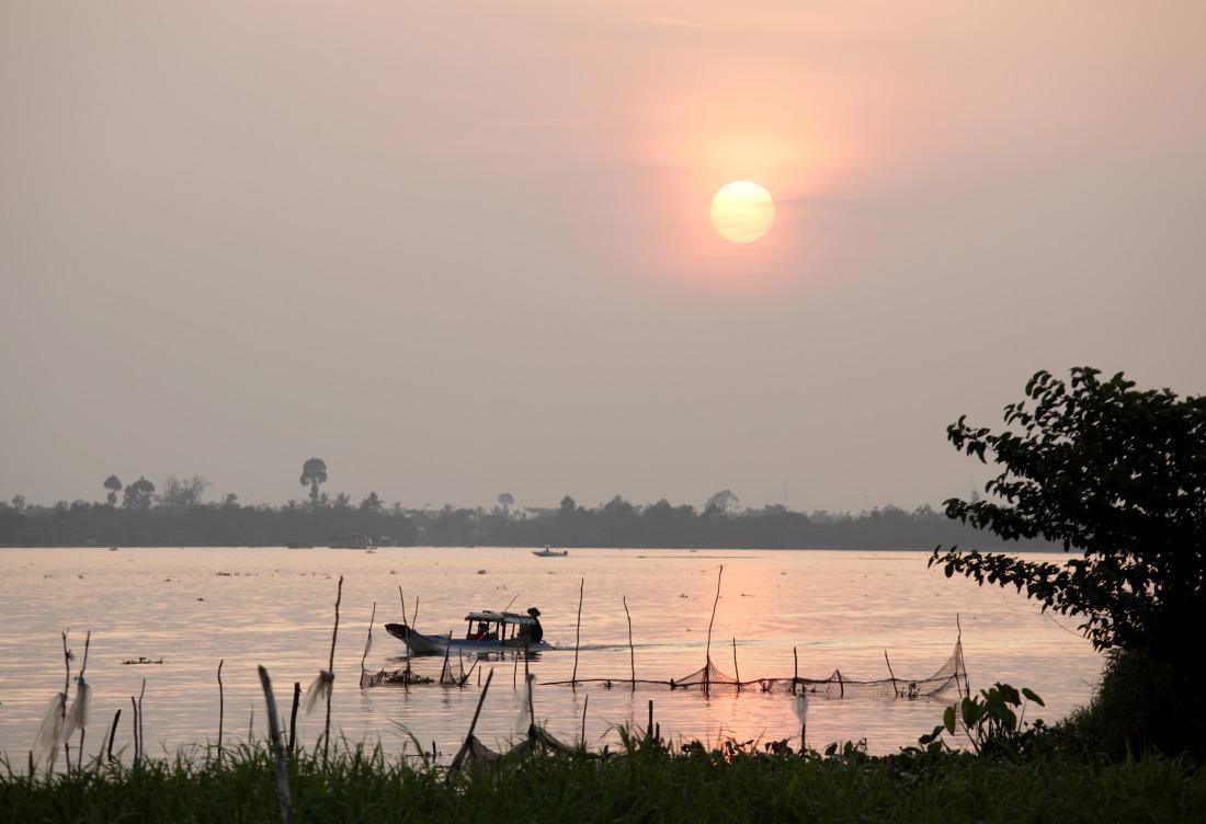 Vue de rêve et quiétude absolue dans notre nid du  Mekong Riverside Boutique Hotel  (BaiBe)