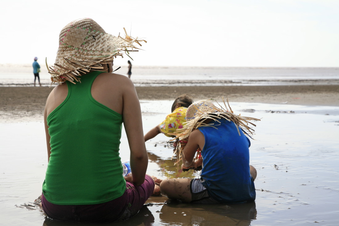 Sur la plage de BaDong