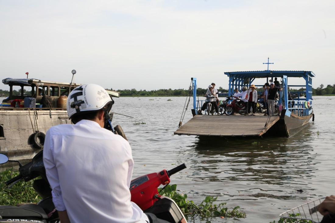 Les innombrables bacs du delta du Mékong