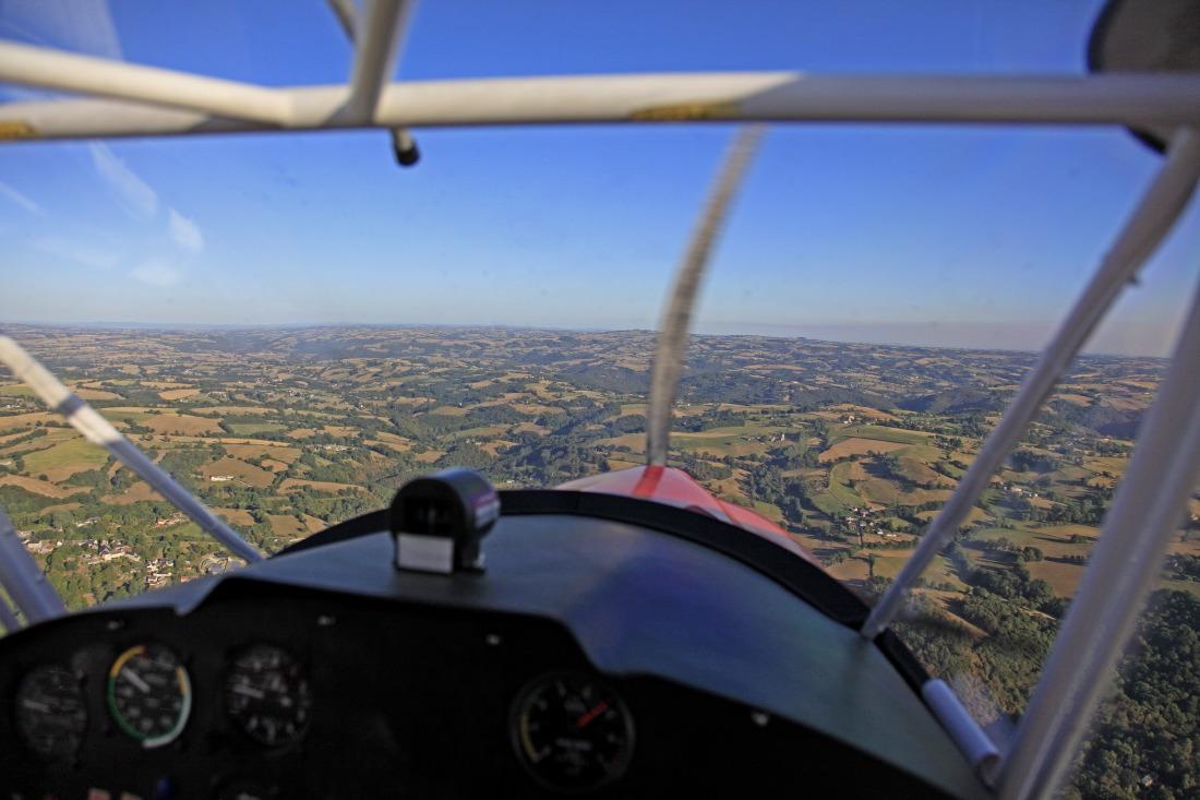 Baptême aérien avec l'aéro-club du Rouergue, Villefranche de Rouergue