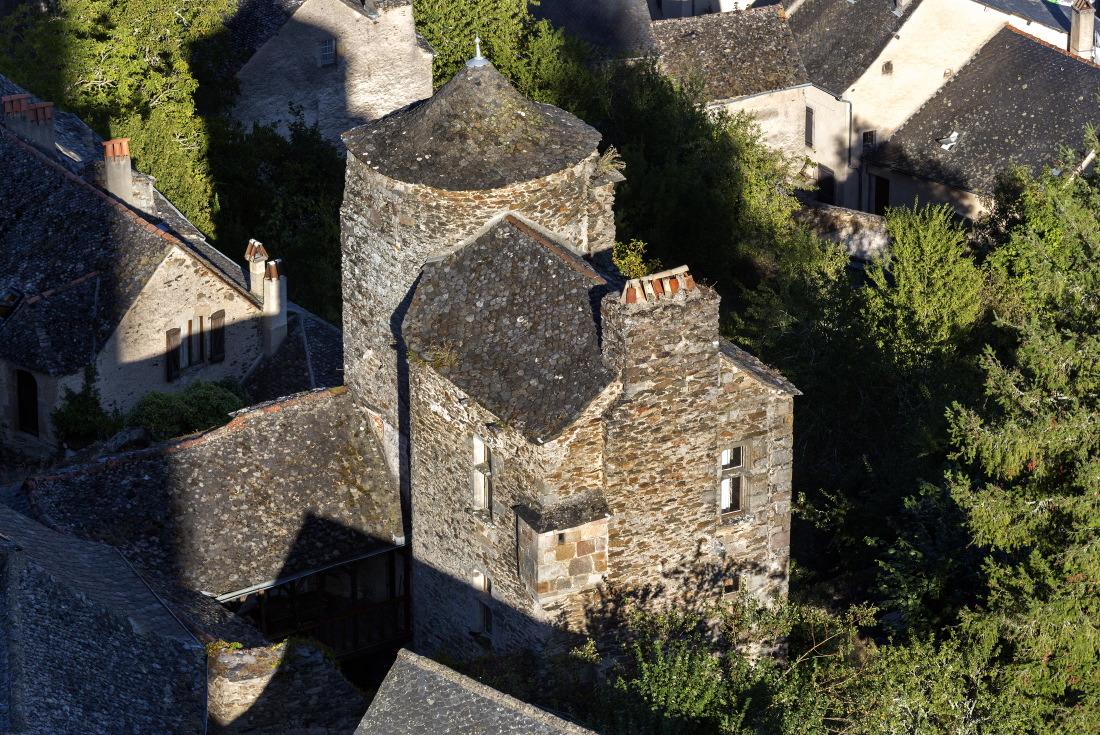 La maison du Sénéchal, vue de la forteresse, Najac