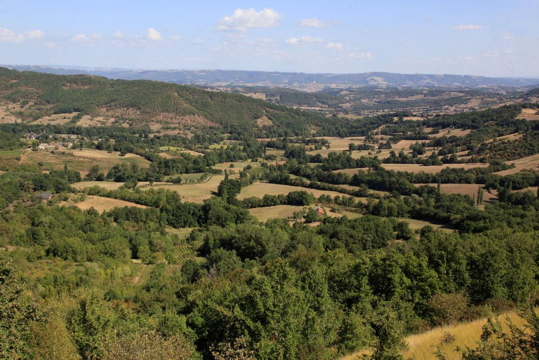 Paysage du Ségala en Aveyron (Rouergue)