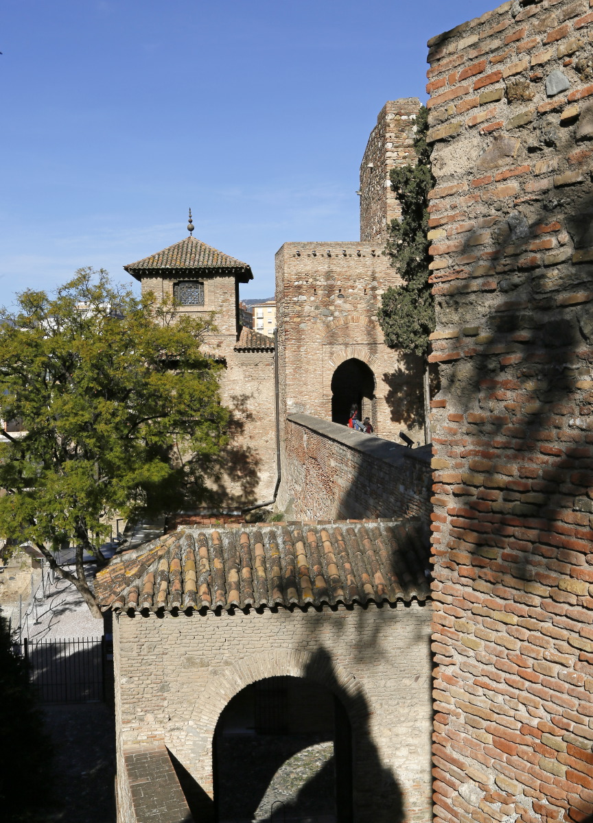 Les murailles de l'Alcazaba de Malaga