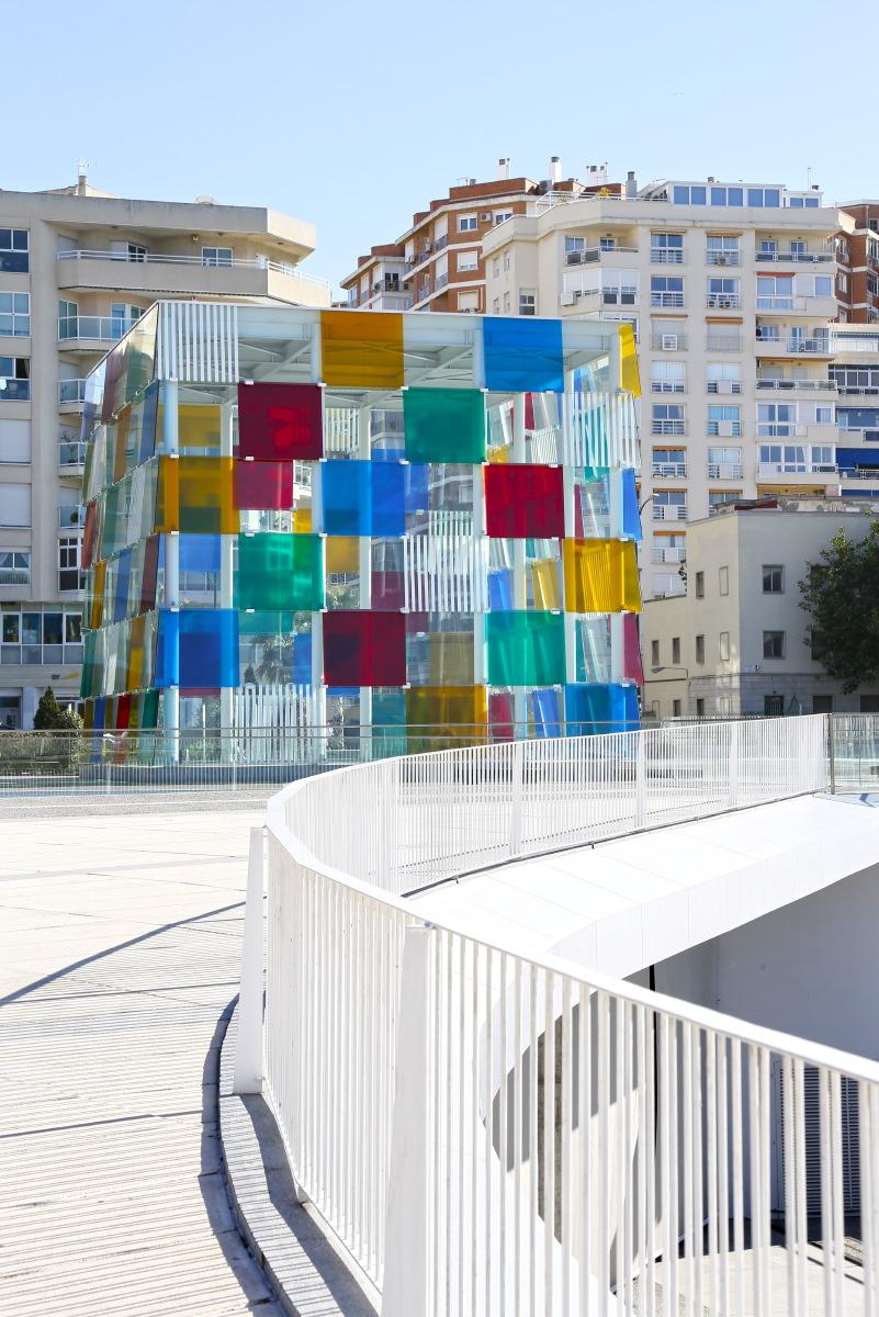 Le cube de verre du Centre Pompidou