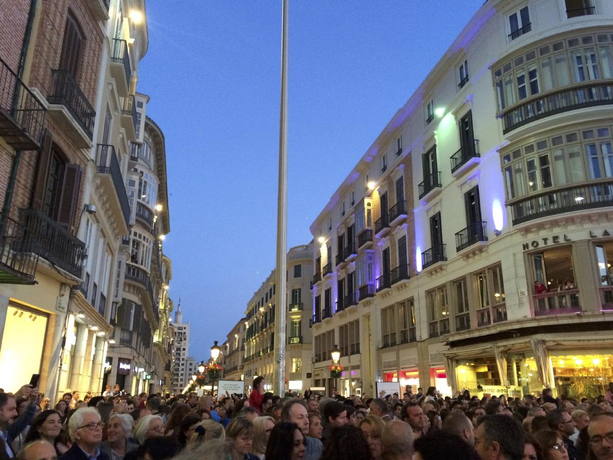 Calle Larios, un soir de fête...