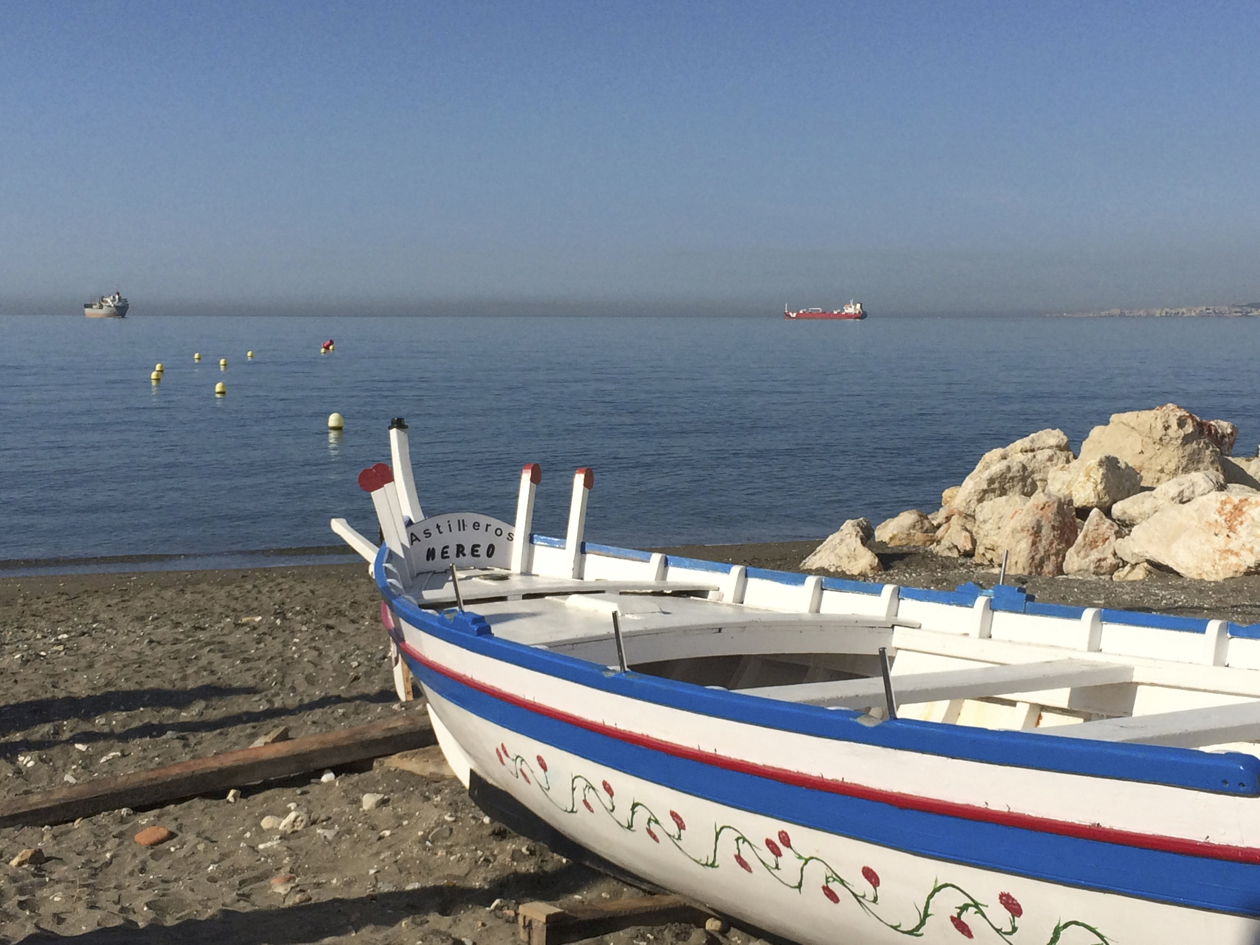 Barques traditionnelles du village de pêcheurs de Pedregalejo