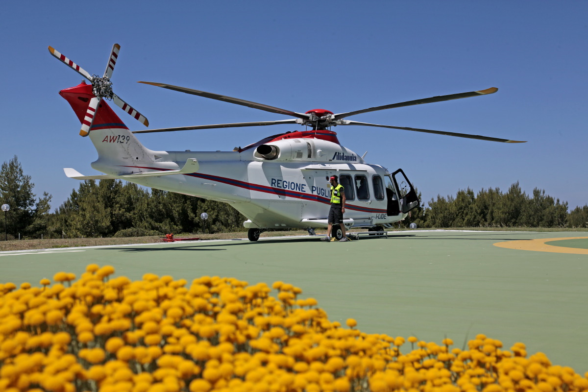 Hélicoptères Alidaunia : vols Vieste-Tremiti-Foggia