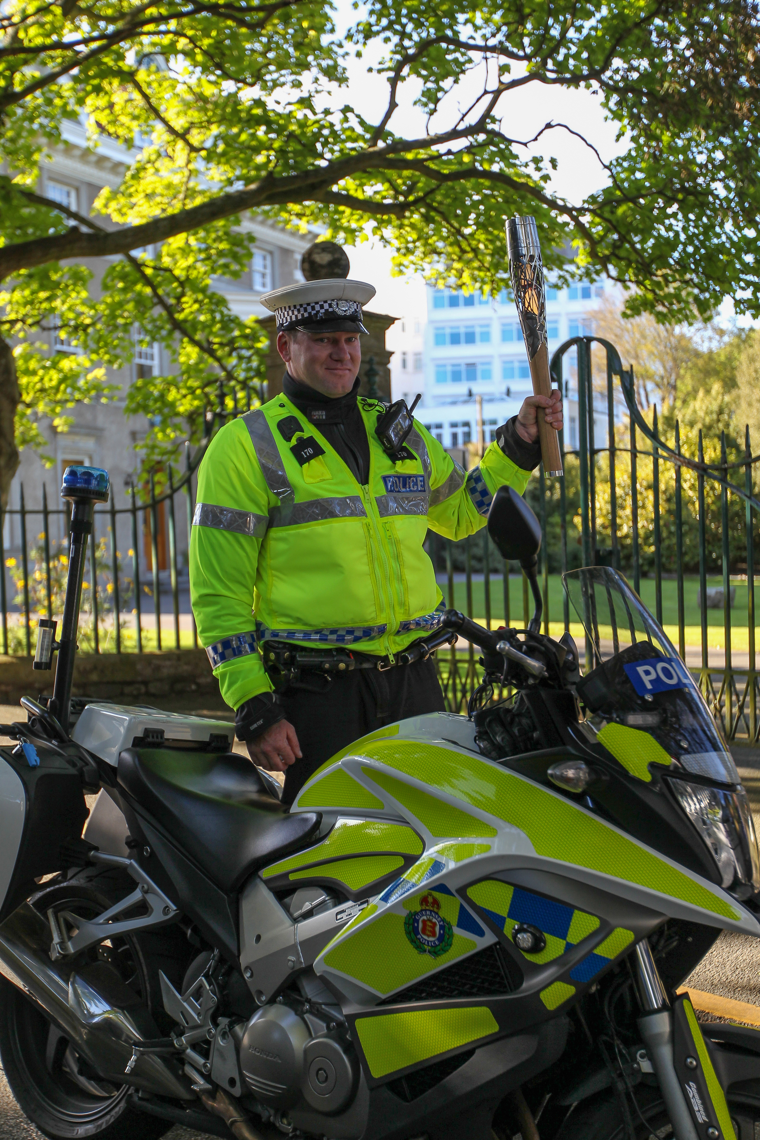 The Guernsey Police supported the visit of the Queen's Baton Relay ….