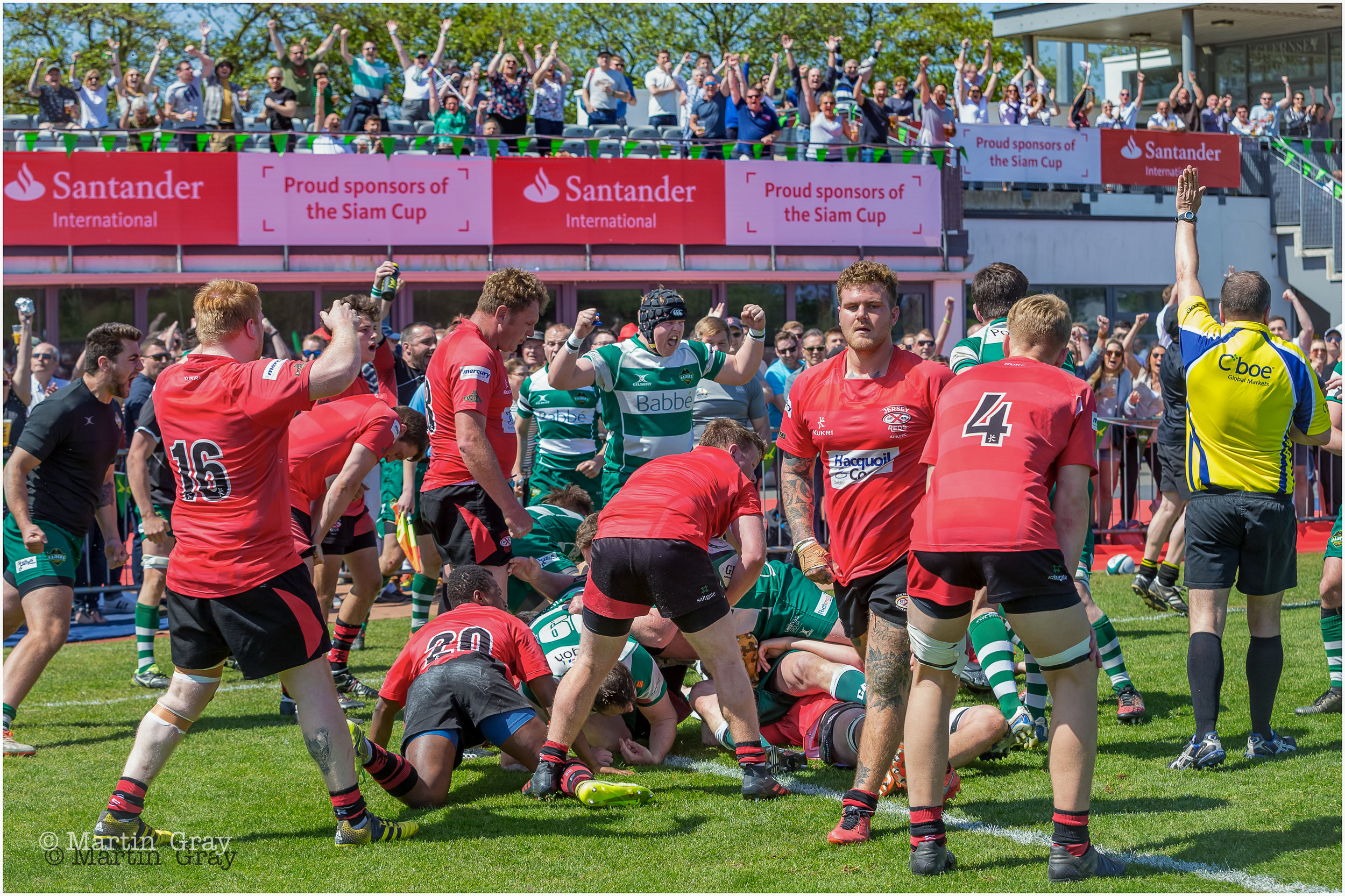The Fallaize Cup played during the 2018 Siam Cup day at Footes Lane on 5th May 2018... Guernsey 2nd's defeat Jersey 2nd's 15-13 in a brilliant game of rugby