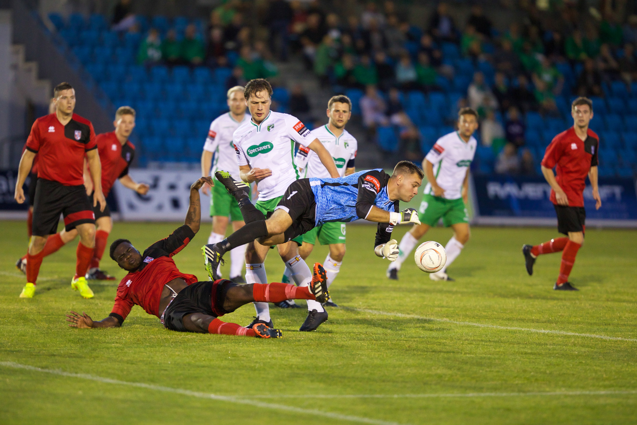 Guernsey FC v Glebe FC played at Footes Lane 31st July 2015… Glebe win 2-3...