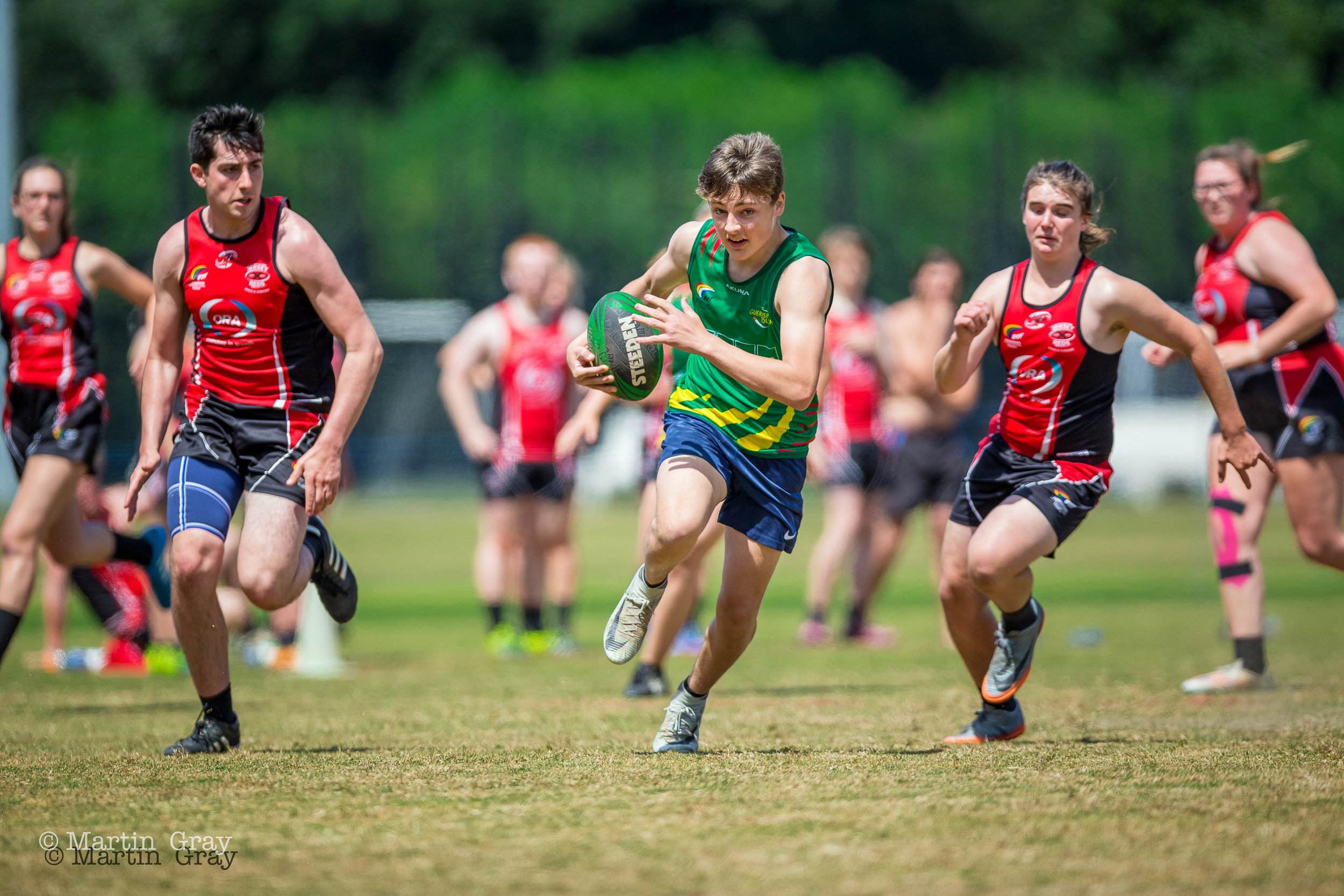 Guernsey v Jersey Touch Rugby Inter-Insulars 2018... Played at KGV Playing Fields 23rd June 2018... Mixed, Mens, Ladies, U18's and Senior Men...