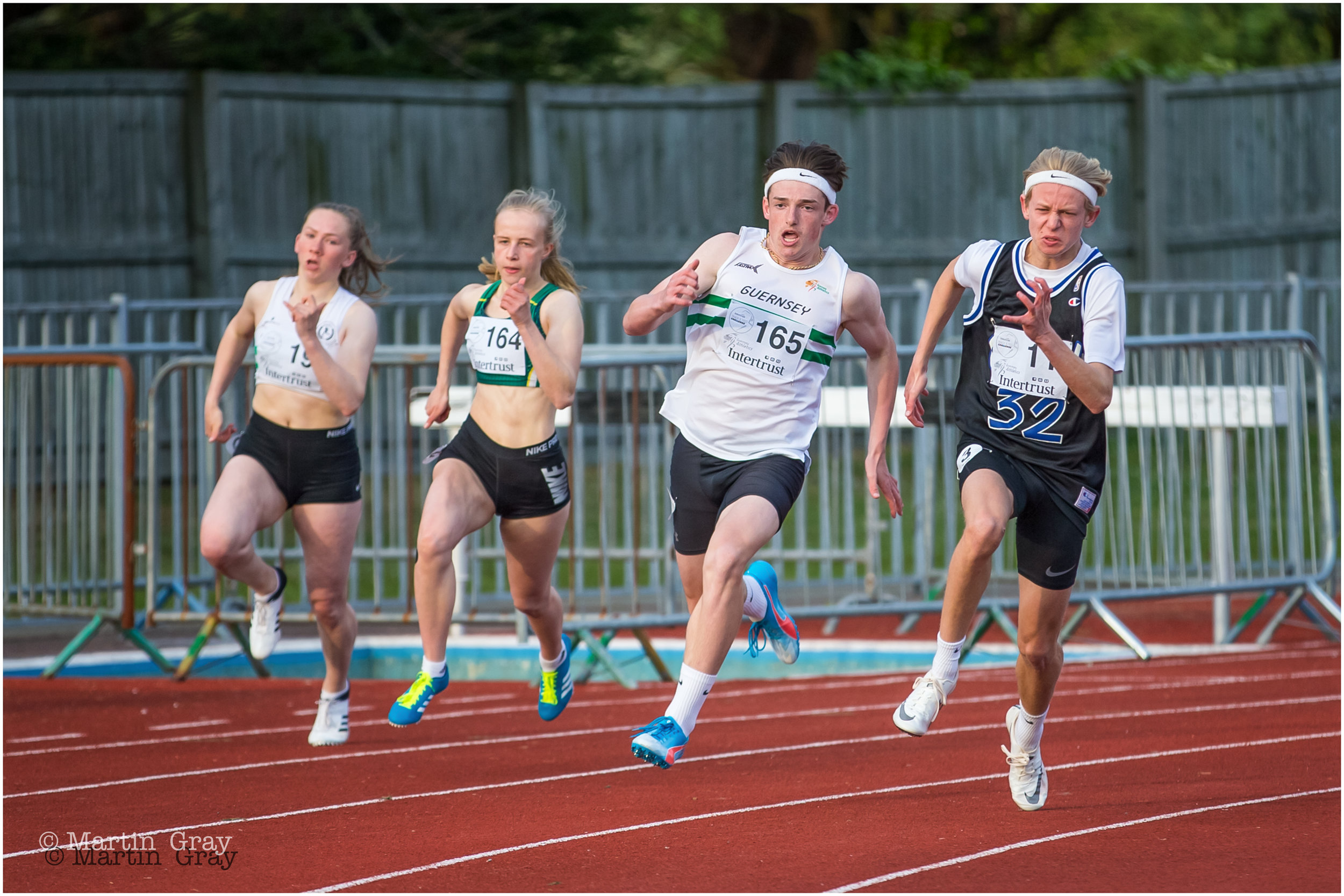 A shot from the 200m Invitational Race…