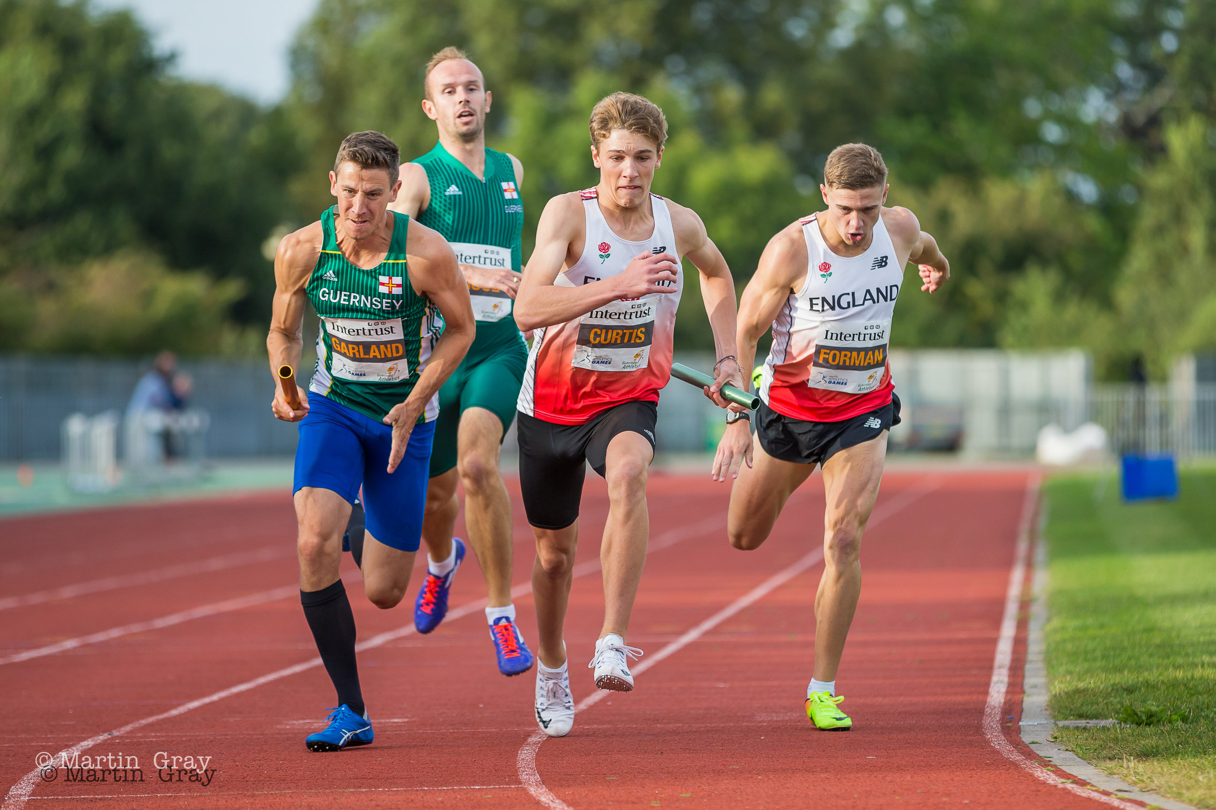 The 4x400m Relay during the Intertrust meeting at Footes Lane…