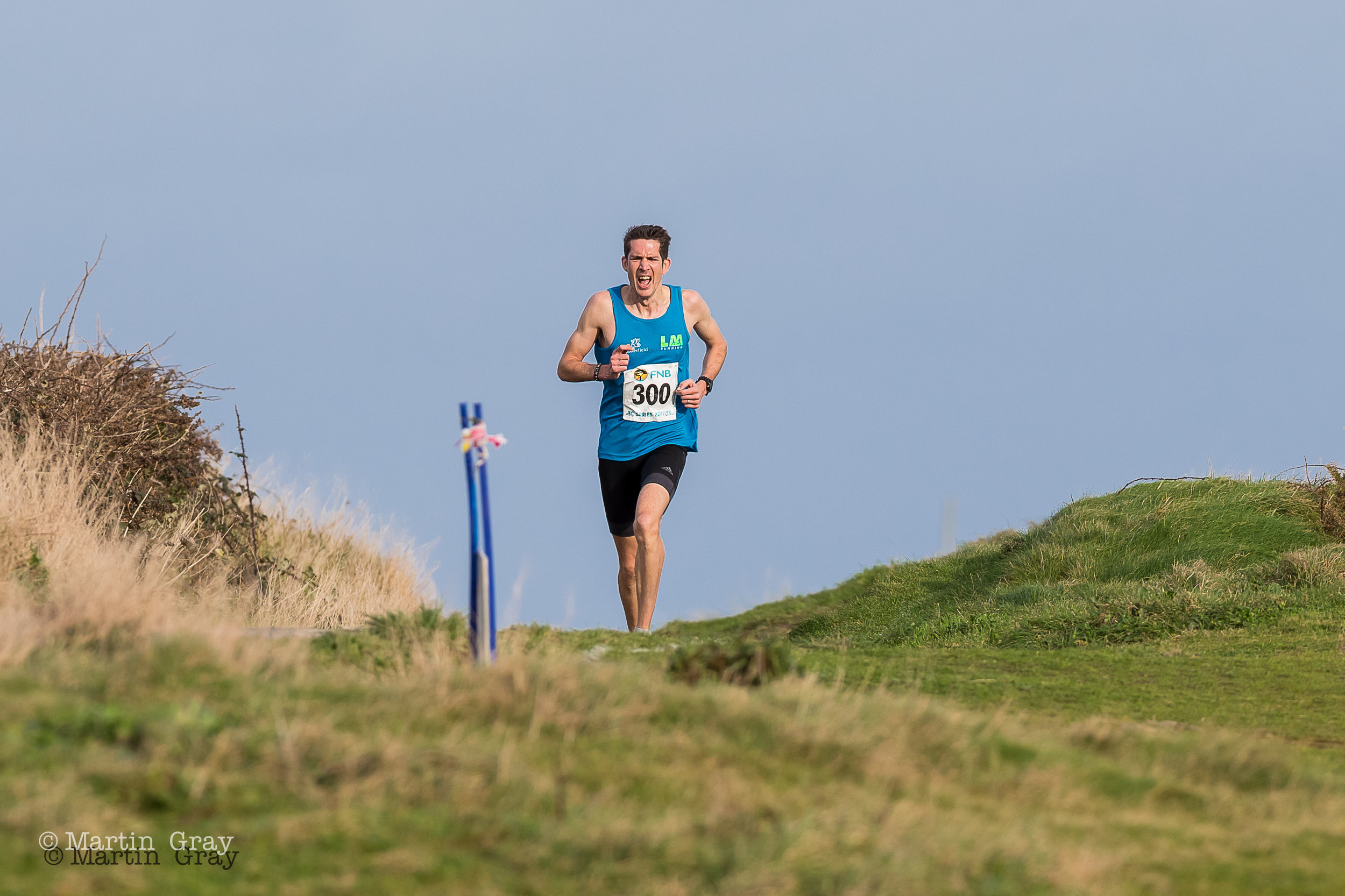 Lee Merrien leading at Amarreurs Bay…