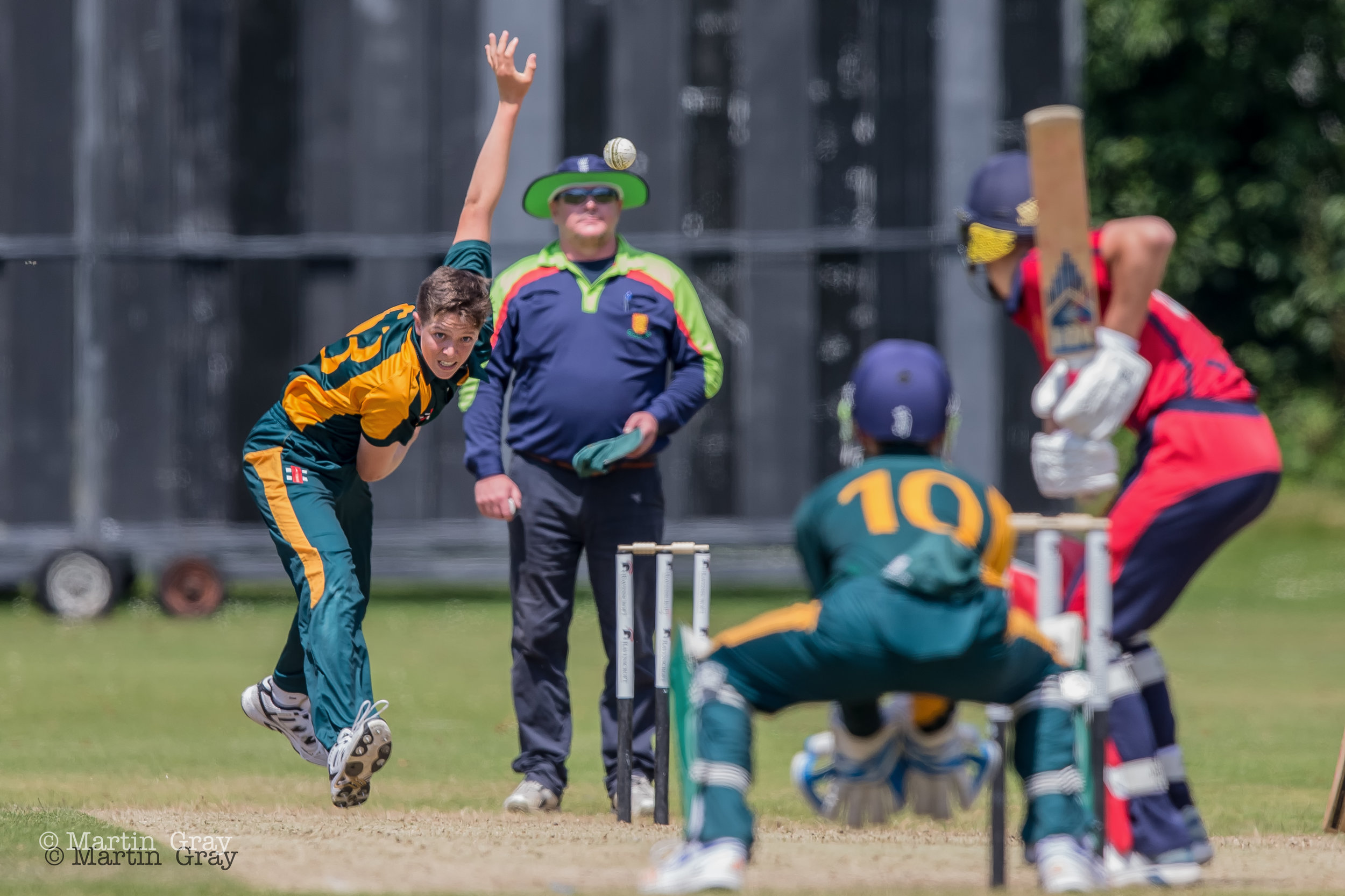 Cricket action from 6th July - Guernsey v Jersey U15 Inter-Insular