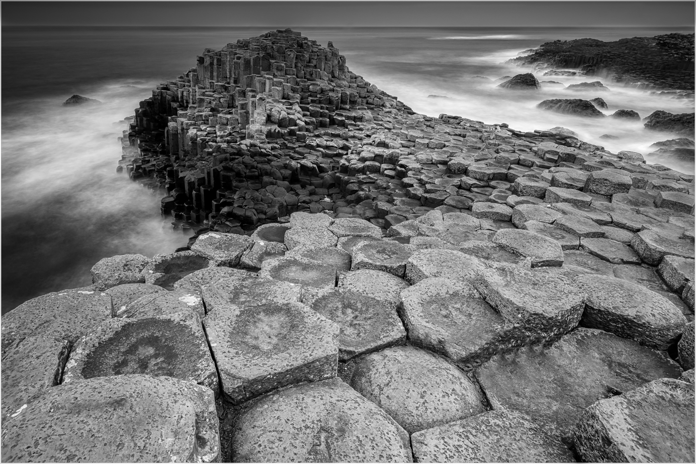 'Stepping Stones'…     Wyvern International 2019 - Mono Landscape Acceptance… (Honourable Mention)