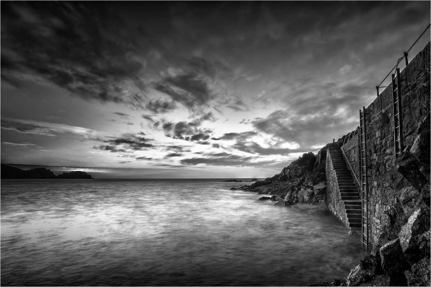'The Harbour Steps'…     Wyvern International 2019 - Mono Landscape Acceptance…