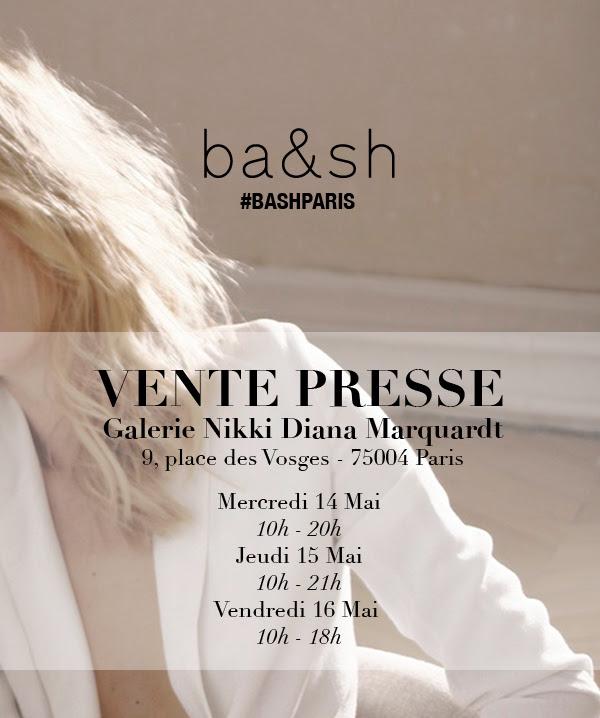 Vente Presse ba&sh du 14 au 16 mai 2014