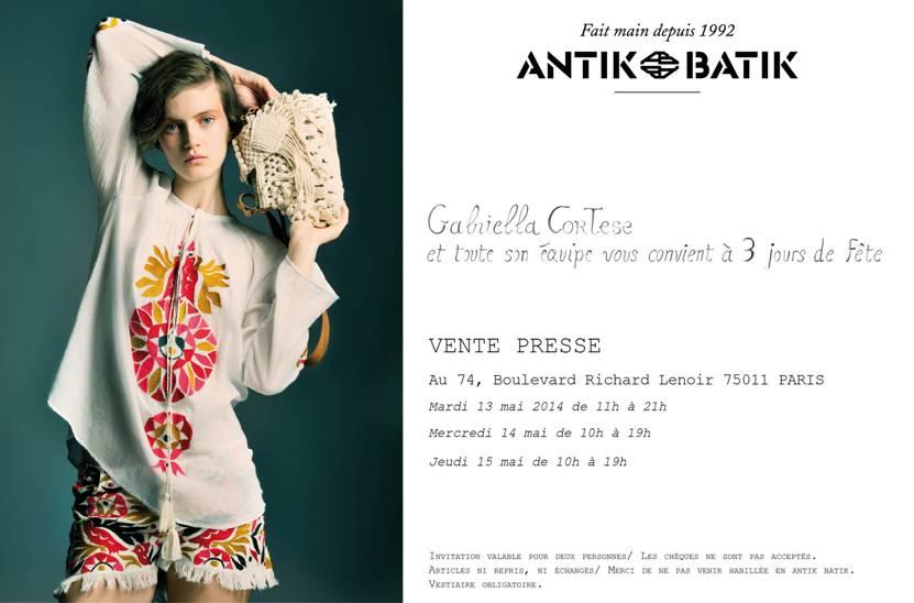 Vente Presse Antik Batik du 13 au 15 mai 2014